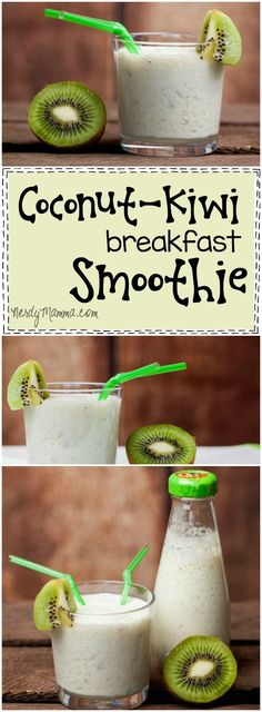 I love this recipe for Coconut-Kiwi Breakfast Smoothie! Easy and fast--it sounds delicious!