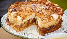 "Szarlotka z chmurką Bogny z ""Bake Off - Ale Ciacho"" - WP Kuchnia Polish Desserts, Polish Recipes, Cookie Desserts, Sweet Recipes, Cake Recipes, Dessert Recipes, Food Cakes, Cupcake Cakes, Different Cakes"