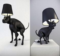 dog lamp, step on the poop to turn the light on and off! Style Parisienne, Dog Jokes, Cool Lamps, Perfect World, Room Accessories, Lamp Light, Lighting Design, Home Remodeling, Haha