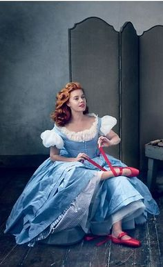 Amy Adams and Tim Burton Reimagine The Red Shoes Photographed by Annie Leibovitz | Vogue US December 2014 | cynthia reccord | #FarfetchFairytale