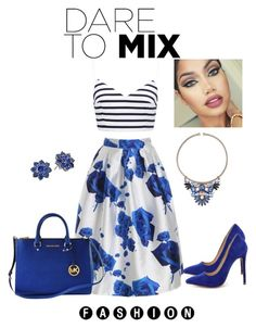 """""""Mix it up"""" by stephstyle76 ❤ liked on Polyvore featuring Forever New, Liliana, Michael Kors, Forever 21 and Nina"""