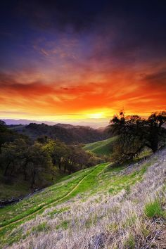 ✯ Mount Diablo Sunset,  by Laszlo Rekasi