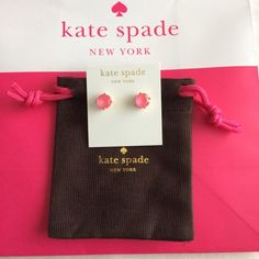 "KSNY gumdrop studs earrings (bubblegum pink) Authentic Kate Spade gumdrop studs earrings in ""vivid snap"" (bubblegum pink); brand new; includes dust bag as pictured. NOTE: I have 2 of these available; please comment and I'll create a new listing for you. Bundle discount available; comment and let me know items you're interested in and I'll create a quote listing. kate spade Jewelry Earrings"