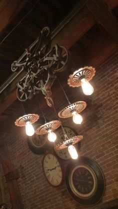 We have a neat hay trolley in the shop that would make a great light fixture