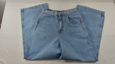 Solo Semore Jeans 100% Cotton Size 28 Made in USA Baggy New With Tags Light Blue #SoloSemore #NA
