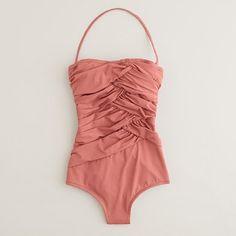 Threads / Women's swim - heritage solids - Asymmetrical ruched bandeau tank - J.Crew