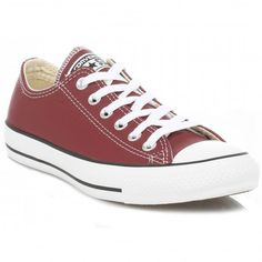 Available online now from Kular Fashion with free UK delivery and off your first online order. Maroon Converse, Converse Men, Converse All Star, Disco Fashion, Leather Trainers, Free Uk, Chuck Taylor Sneakers, Chuck Taylors, Burgundy