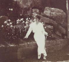 Grand Duchess Olga in the garden at Livadia in the Crimea, 1914