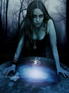 Witch Goth Gothic fantasy art