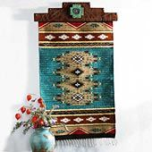 Indian blanket turquoise wall hanging