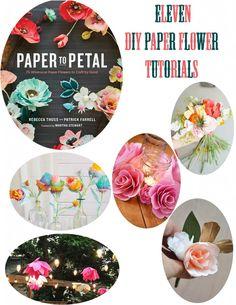 11 diy paper flower tutorials - dear handmade life