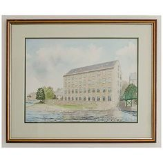 Original Architects Watercolour Thorngate Mill Barnard Castle by Hayes Design
