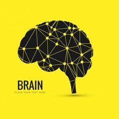 fundo do cérebro Vetor grátis