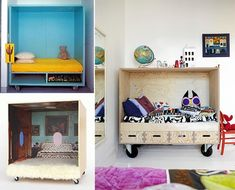 Rolling Cubby Beds for Kids