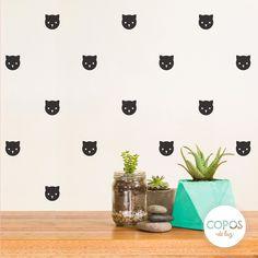 Vinilos decorativos con forma de Gatitos #vinilos #decorativos #infantiles #trama #deco #decoracion #vinilodecorte #corte #pared #gatos #gatitos