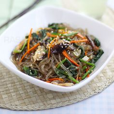 Japchae (Korean Mixed Noodles)   Rasa Malaysia