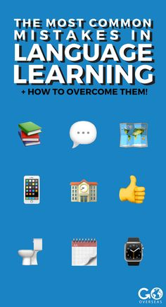 Learning a language? You'll probably make some mistakes - but that's okay! Here are the most common mistakes language learners make, and how to overcome them. Tour Around The World, Volunteer Abroad, Most Common, Learn A New Language, Gap Year, Study Abroad, Tour Guide, Languages, Mistakes