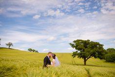 Gorgeous Irish Wedding with barley field
