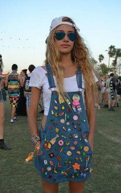 Badge Dungarees