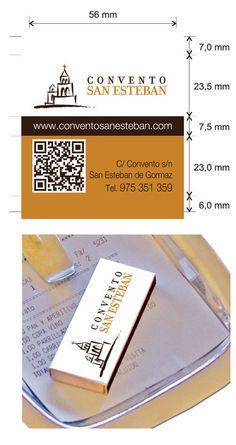 Propuesta de Caja de Cerillas para Restaurante Convento San Esteban en Soria.