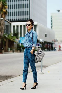 Wear Bow Denim on the Street    How do you sparkle? http://theglitterguide.tumblr.com/submit