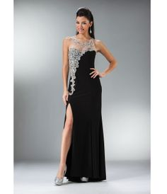 1920s prom dress: 2014 Prom Dresses - Black Stone & Satin Gown $268.00 #1920sprom #greatgatsby #prom