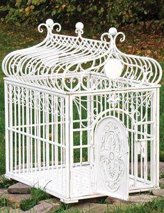 VICTORIAN DOG KENNEL - Stylish Dog Crate, White Dog House