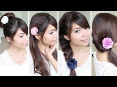 Easy back to school hairstyles! Thumbs up for back to school hairstyles. ♥ Learn how to do more cute hairstyles: http://www.youtube.com/playlist?list=PLD4D5DE6CCCF00AF4  Hey guys, this hair tutorial will show you how to do a few back to school hairstyles that you can use everyday. Give your hair a break from heat and hairspray with a twisted head...