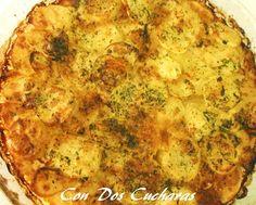 ConDosCucharas.com Patatas al horno - ConDosCucharas.com Quiche, Pizza, Cheese, Breakfast, Food, Grated Cheese, Parsley, Side Dish Recipes, Baby Animals