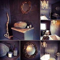 """#regram fra @hjemmehososs. Ble ikke dette badet fantastisk?  Vi har """"kun"""" laget servantbenken. #drivved #drivvedland #gjenbruksmaterialer #elskerdet #påbestilling #håndlagetavoss #barefordeg Photo And Video, Mirror, Bathroom, Instagram, Furniture, Home Decor, Decoration, Soap, Washroom"""