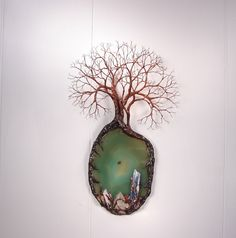 Trio Grove Spirits Wire Tree Of Life sculpture by CrowsFeathers