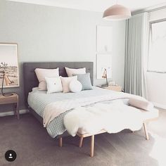 Oh how I wish this was my room, and that I was belly flopping into that bed!! @designdevotee we love your house!!!!