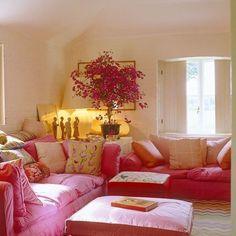 Pretty in Pink  John Stefanidis. When you can't go blue, go pink!  #love #johnstefanidis #InteriorsHeaven #DreamSpaces #UnderstatedElegance #PinkLover #mediterraneanlife #greeksdoitbetter