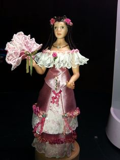 Lady made and dressed for my house Miniatures, Victorian, Lady, House, Dresses, Fashion, Vestidos, Moda, Home