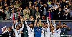 Celebración Supercopa de Europa #RealMadrid #football