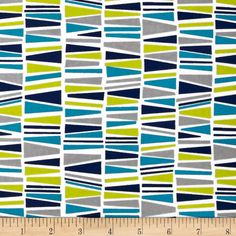 """From Kaufman comes """"Cozy Cotton"""", this soft double-napped (brushed on both sides) flannel fabric is perfect for apparel, quilting and home décor accents. The colors include  shades of blue, lime, grey and white."""