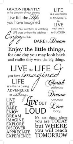 Kaisercraft - Rub Ons - Life Phrases - Black at Scrapbook.com $2.99