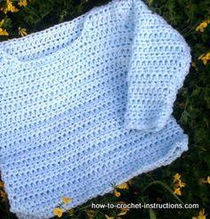 crochet sweater...both UK and US terminology