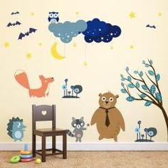 Kit Cameretta Night & Stars Notte Stellata Wall Sticker Adesivo da Muro Componibile