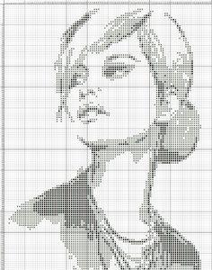 Lady x-stitch