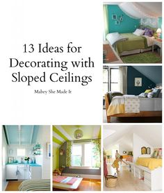 17 Sloped Ceiling Bedroom Design Ideas Mabey She Made It in measurements 1698 X 2000 Slanted Ceiling Bedroom Design - As our lives become ever Angled Ceiling Bedroom, Rooms With Slanted Ceilings, Angled Ceilings, Slanted Walls, Sloped Ceiling, Angled Bedroom, Hm Deco, Attic Bedrooms, Bedroom Loft