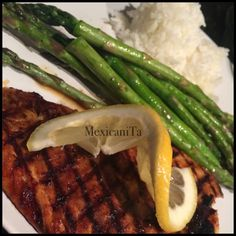 Red Snapper , Asparagus & Steam Rice