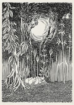 High quality digital print - a copy of book illustration made by Tove Jansson to Comet in Moominland. frames available on the market (for Les Moomins, Moomin Books, Tove Jansson, Art Et Illustration, Museum Exhibition, Poster Wall, Vintage Posters, Creative Art, Art Inspo