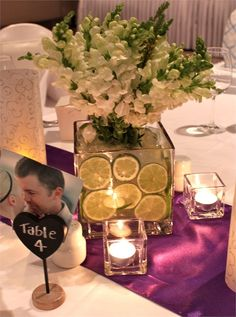 Table Centrepiece wedding decor at Royal on the Park Brisbane wedding venue. Find out more...
