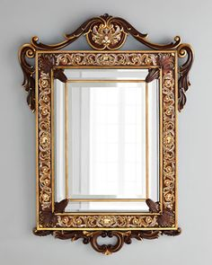 Laurent Arabesque Wall Mirror by Jay Strongwater at Neiman Marcus.