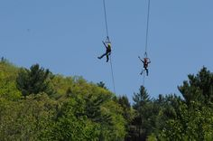 Grab your bucket list partner for a dual zipline ride! Soar high above the trees on Kittatinny Canoes' 3000' long ziplines, with views of the Delaware River along your ride!