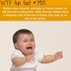 Babies have accents - WTF fun facts