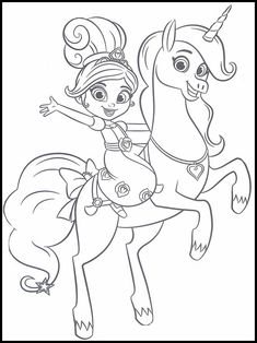 Nella the Princess Knight Målarbilder för barn 1 Elsa Coloring, Unicorn Coloring Pages, Princess Coloring Pages, Cartoon Coloring Pages, Coloring For Kids, Colouring Pages, Coloring Sheets, Girl Birthday Themes, 3rd Birthday Parties