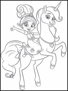Nella the Princess Knight Målarbilder för barn 1 Elsa Coloring, Unicorn Coloring Pages, Princess Coloring Pages, Cartoon Coloring Pages, Colouring Pages, Coloring For Kids, Coloring Sheets, Girl Birthday Themes, 3rd Birthday Parties