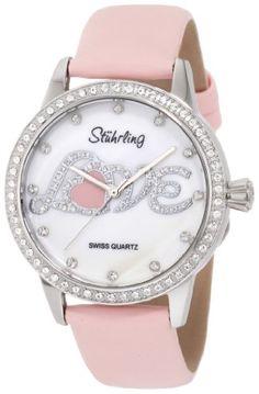 Stuhrling Original Women's 519L.1115A7 Love White Mother-Of-Pearl Dial Swarovski Watch